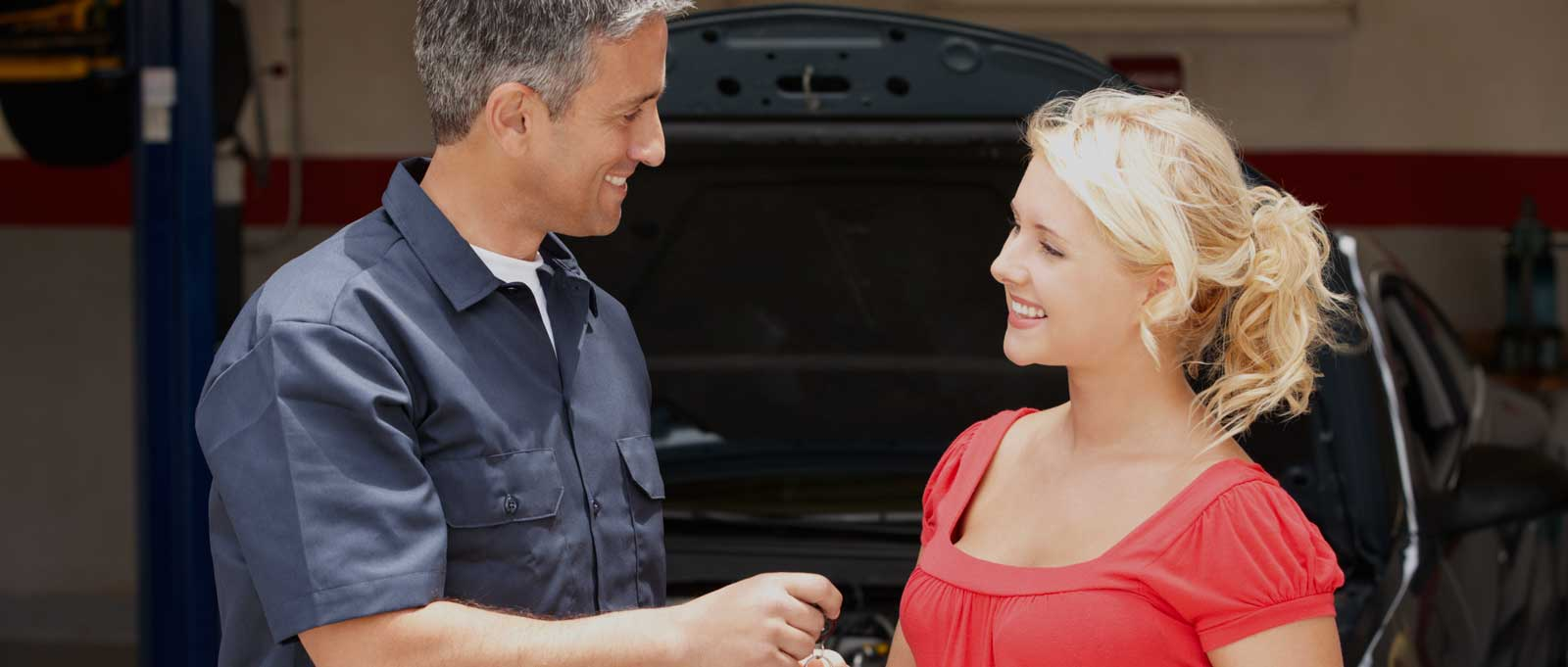 Auto Mechanic and Auto Repair Customer
